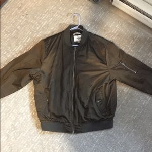 Shiny Brown Bomber Jacket